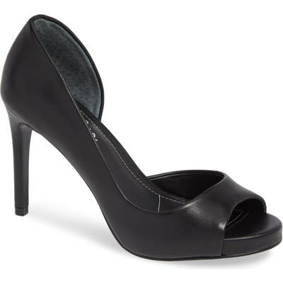 Charles By Charles David Chess Open Toe Pump- Black