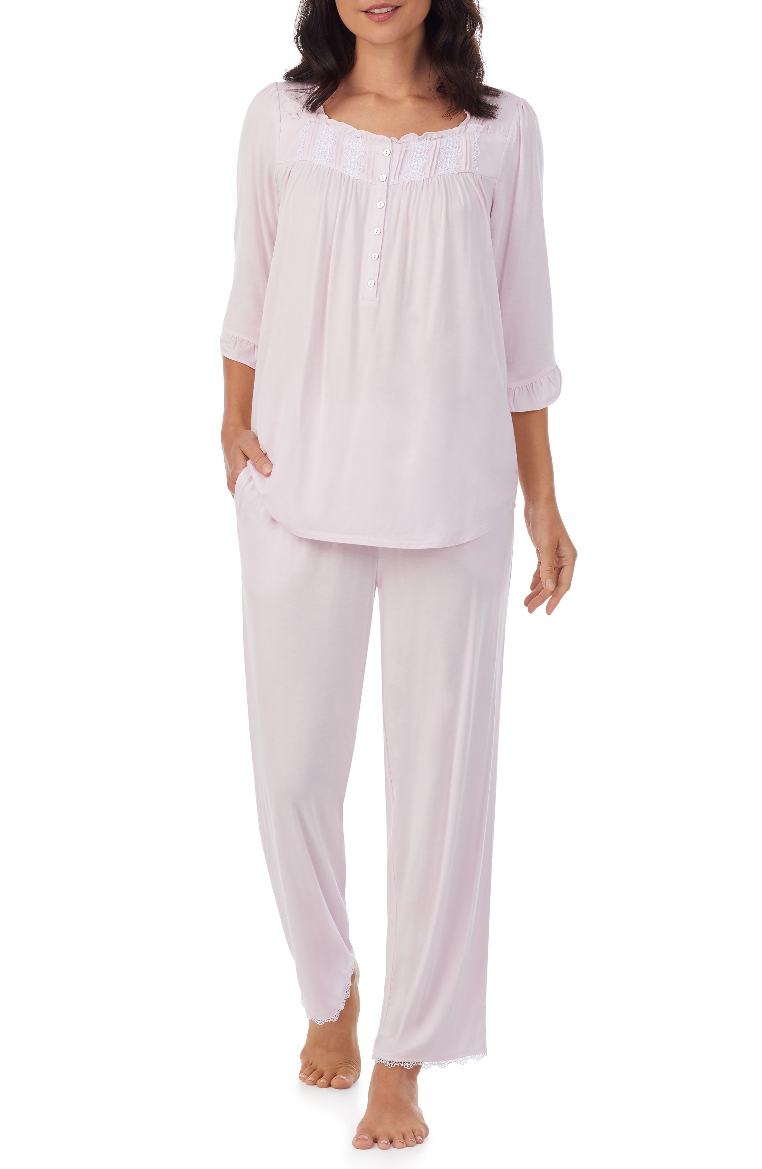 Women's Eileen Fisher Lace Trim Jersey Pajamas