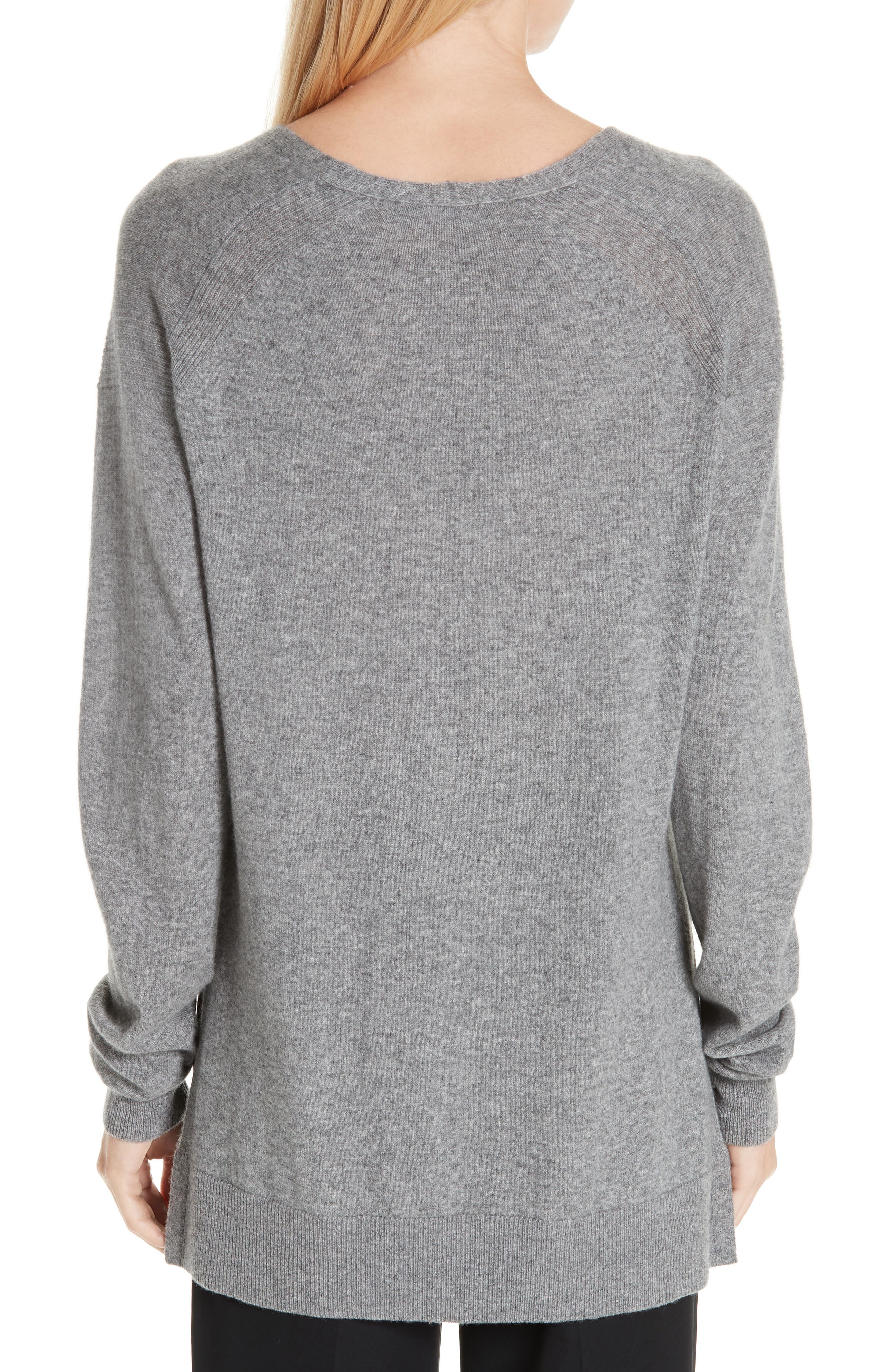 ,                             Wool & Cashmere V-Neck Sweater,                             Alternate thumbnail 2, color,                             062
