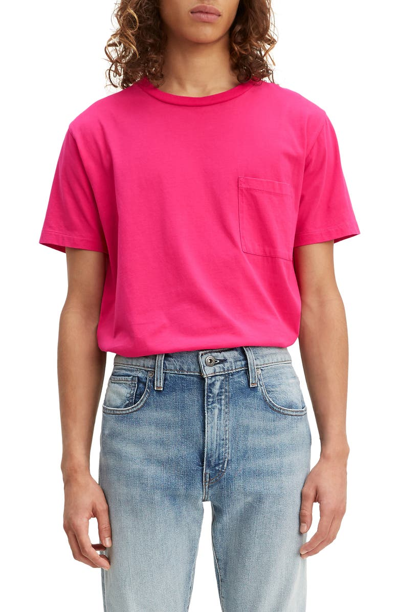 LEVI'S<SUP>®</SUP> MADE & CRAFTED<SUP>™</SUP> Pocket T-Shirt, Main, color, PINK PEACOCK
