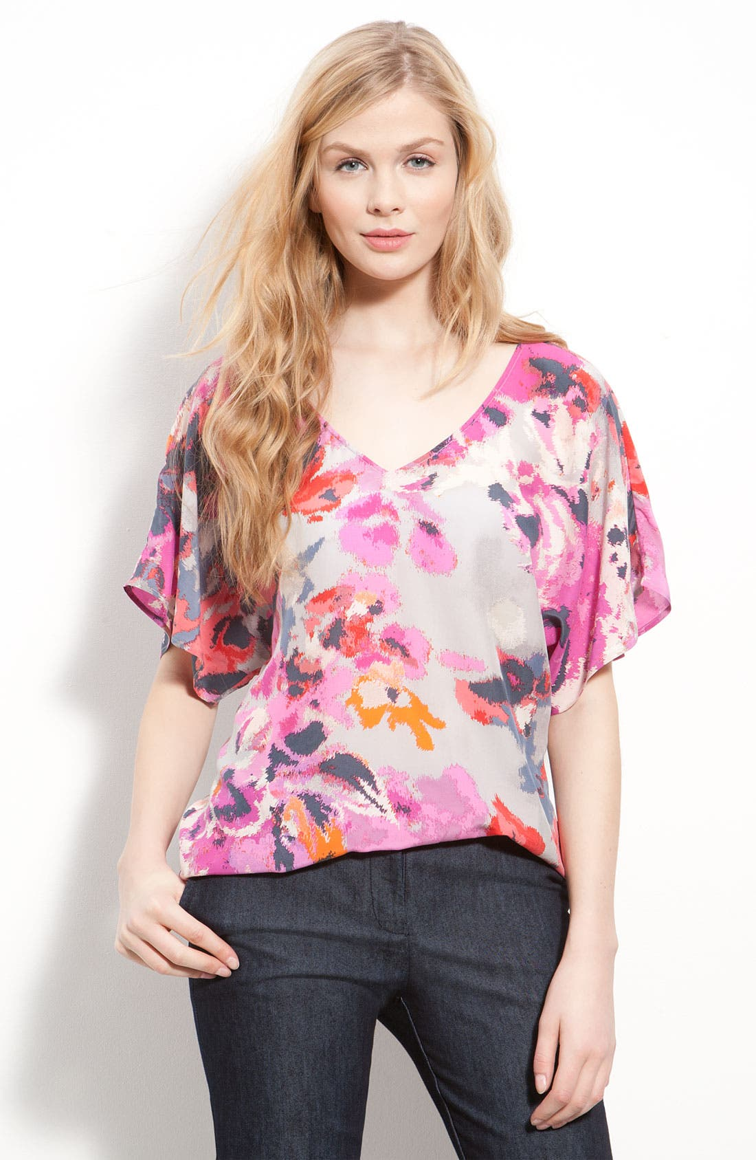 ,                             Relaxed V-Neck Top,                             Main thumbnail 6, color,                             650