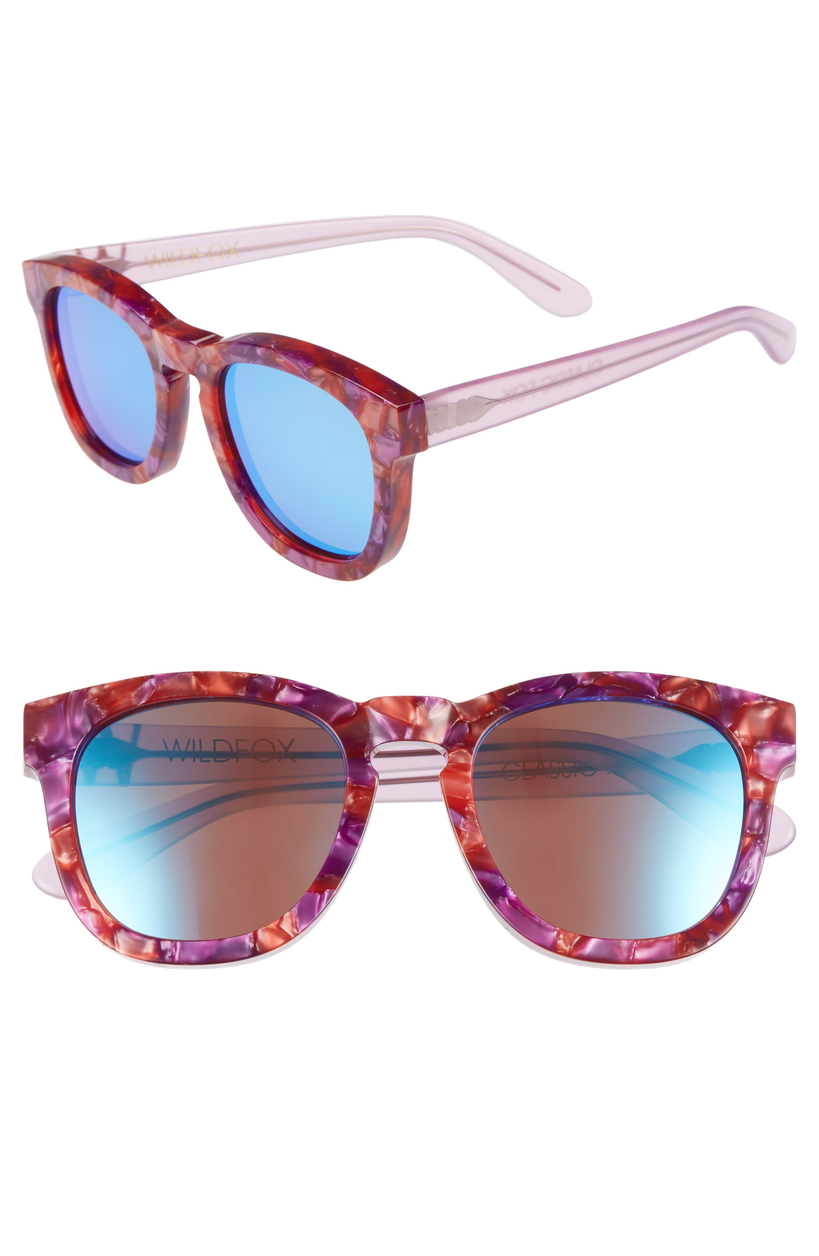 Wildfox Classic Fox - Deluxe 5m Sunglasses - Wildflower/blue Mirror