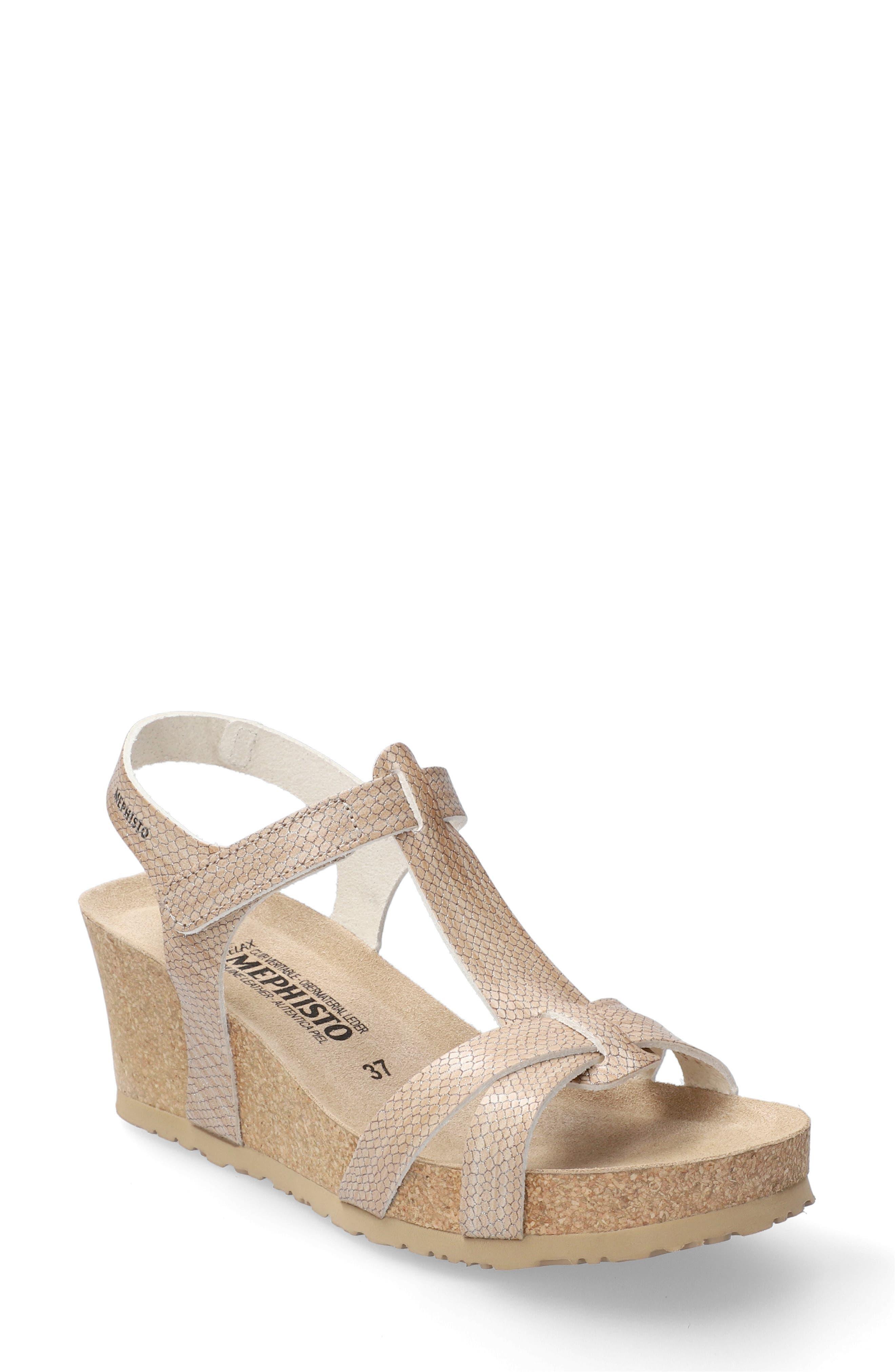 Mephisto Womens Beauty Wedge Sandal