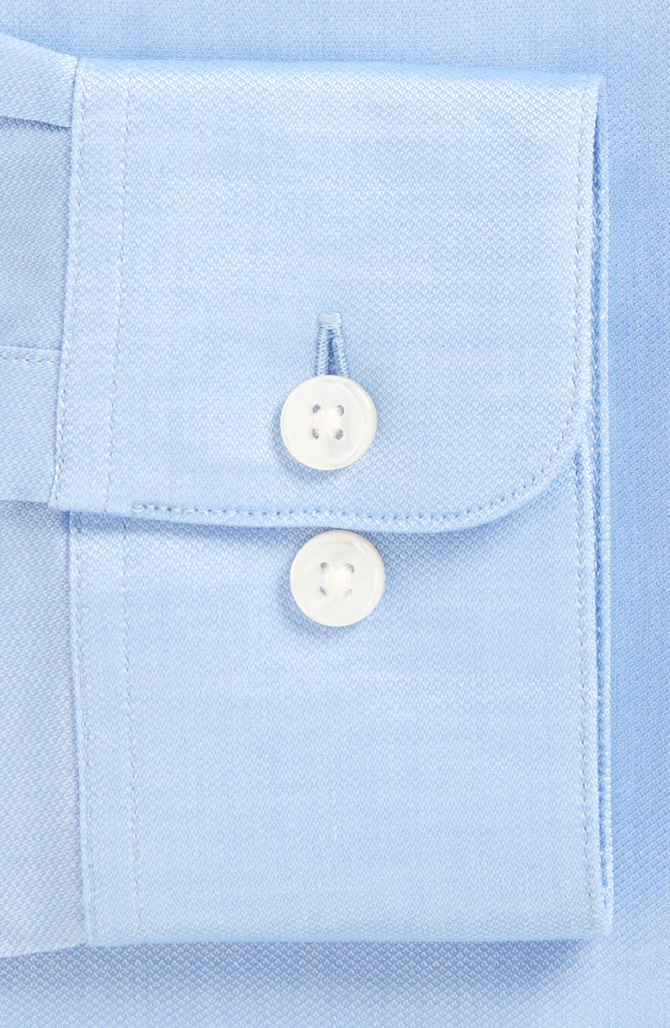 ,                             Soho Slim Fit Stretch Solid Dress Shirt,                             Alternate thumbnail 3, color,                             ATLANTIC BLUE