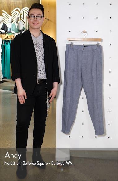 Lex Slim Fit Linen Blend Pants, sales video thumbnail