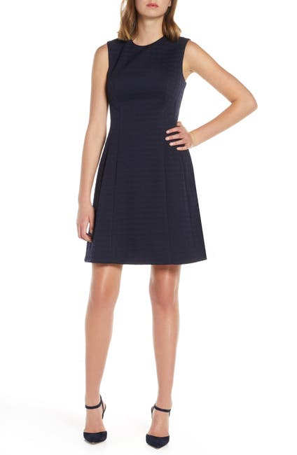 Image of Eliza J Jewel Neck Fit & Flare Dress