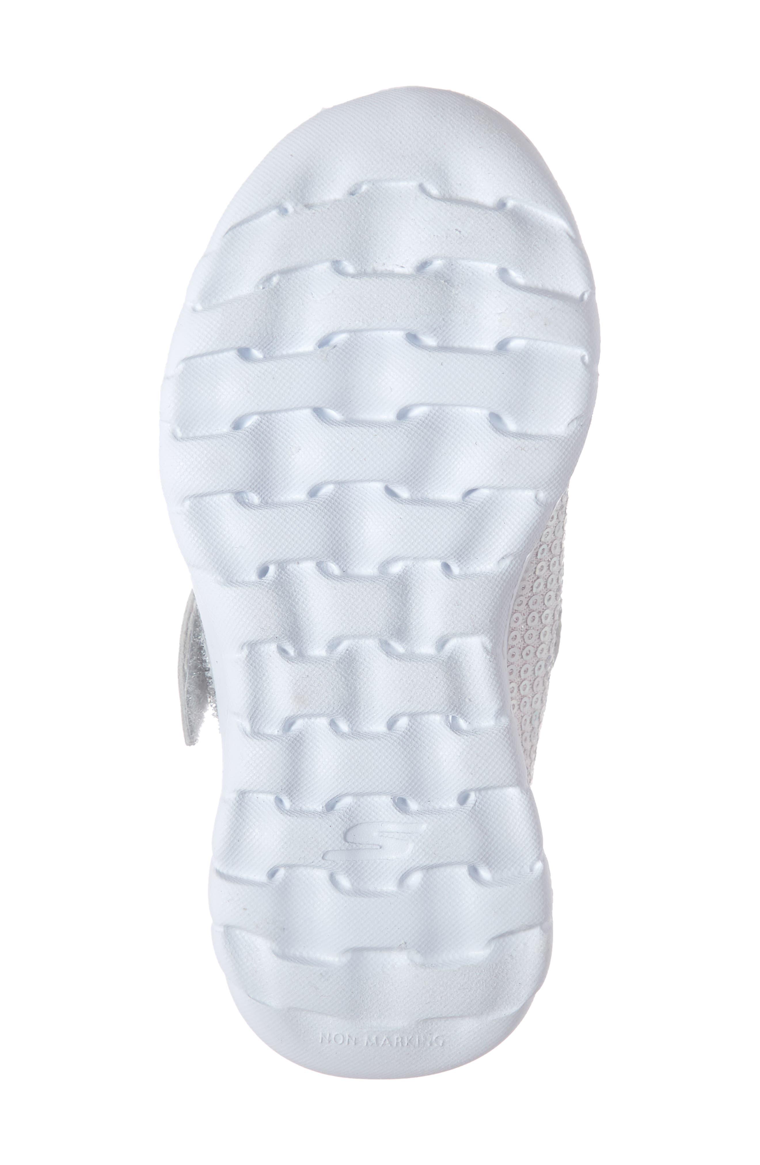 ,                             GOwalk Joy Sequin Sneaker,                             Alternate thumbnail 6, color,                             SILVER/ MULTI