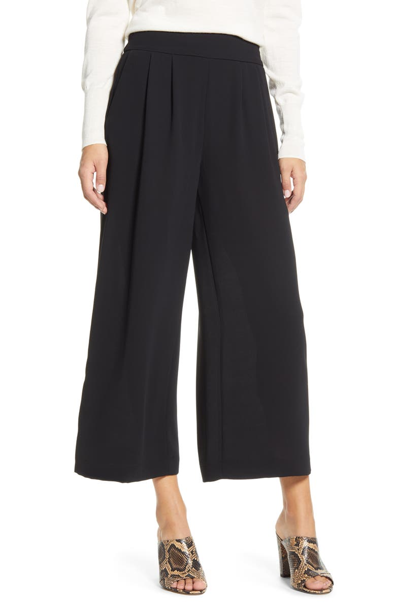 1.STATE Wide Leg Crepe Trousers, Main, color, 001
