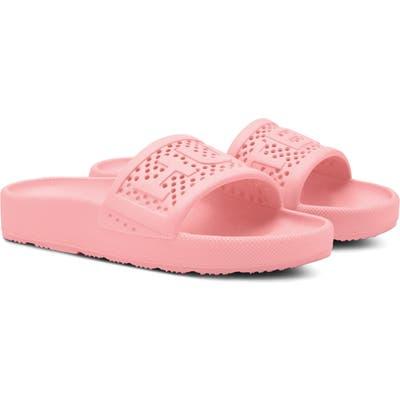 Hunter Original Logo Strap Slide Sandal, Pink