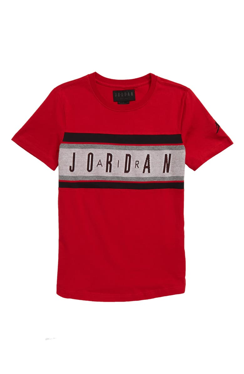 JORDAN Air Jordan Jacquard T-Shirt, Main, color, GYM RED