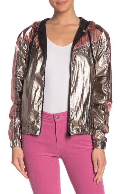 Image of PAM AND GELA Metallic Zip Up Hoodie