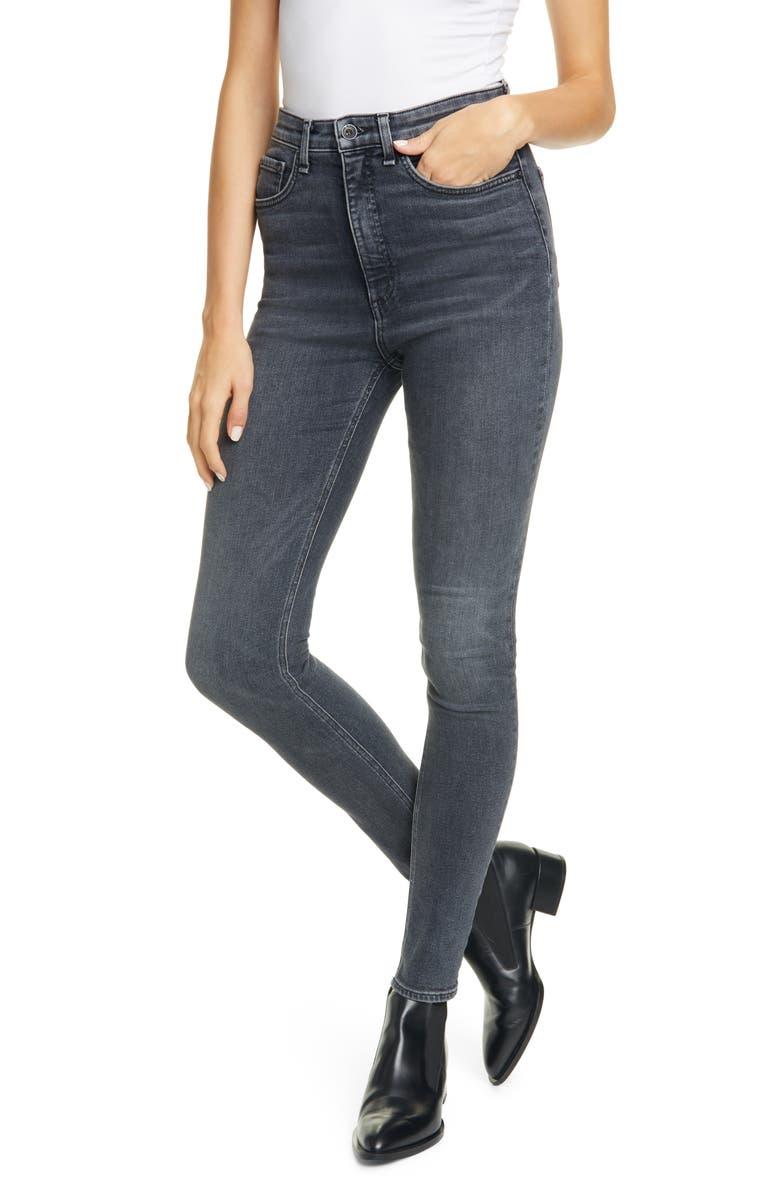 RAG & BONE Jane Super High Waist Skinny Jeans, Main, color, ABBEY ROAD
