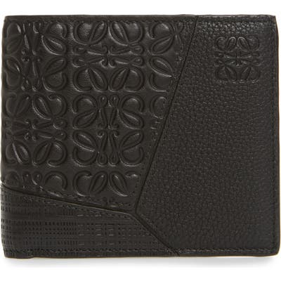 Loewe Puzzle Bifold Leather Wallet - Black