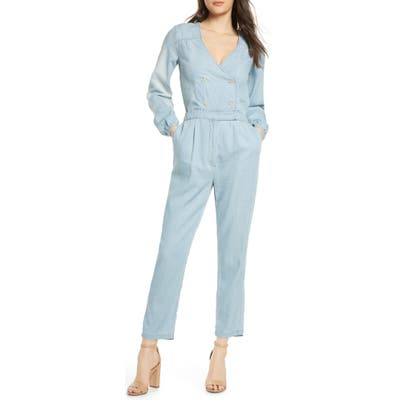 Ali & Jay Surfrider Long Sleeve Chambray Jumpsuit, Blue