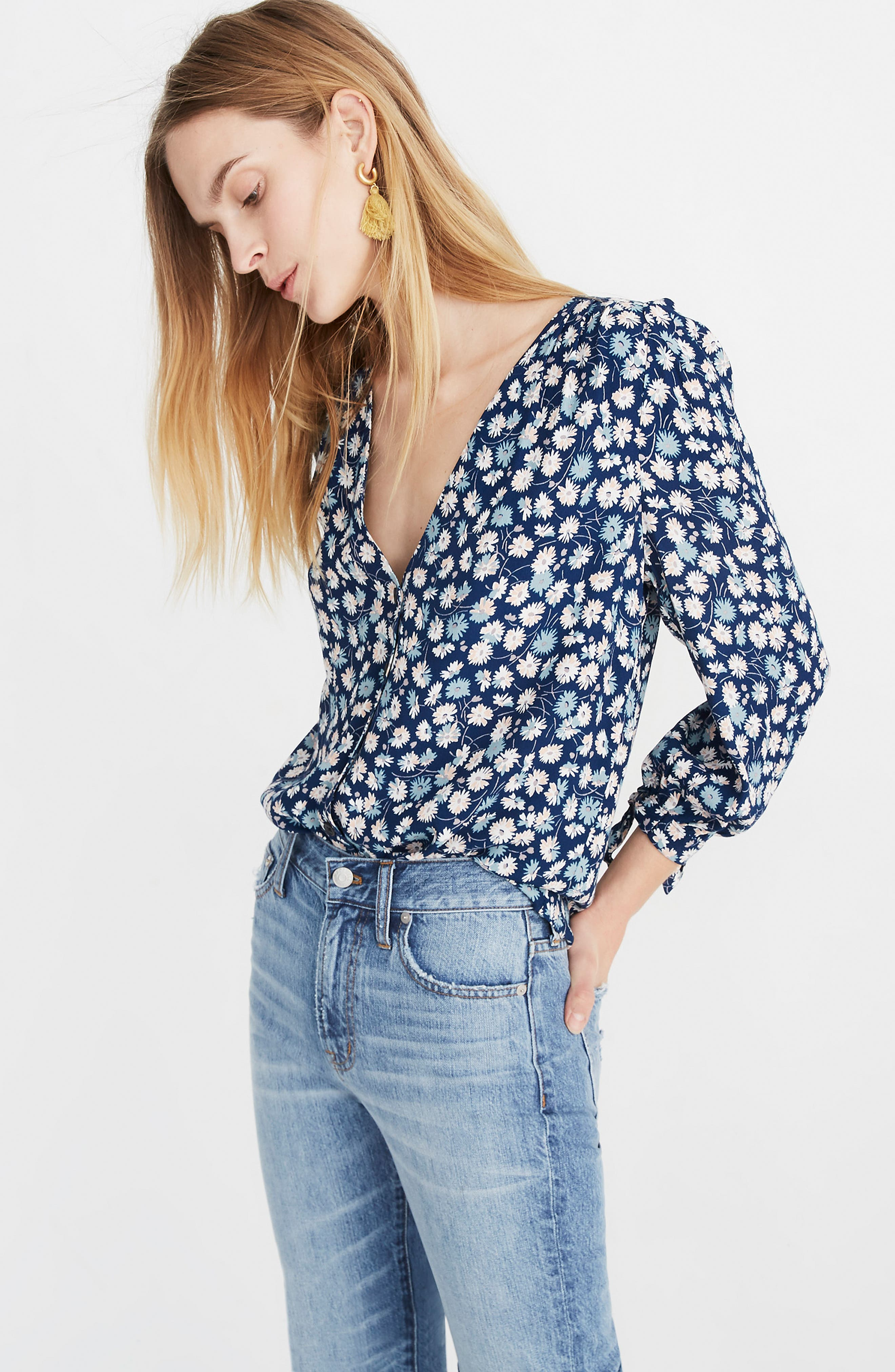 ,                             Tie Sleeve Button Down Top,                             Alternate thumbnail 5, color,                             400