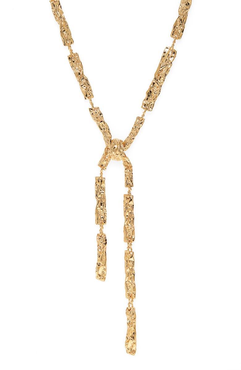 CHLOÉ Anouck Necklace, Main, color, GOLD