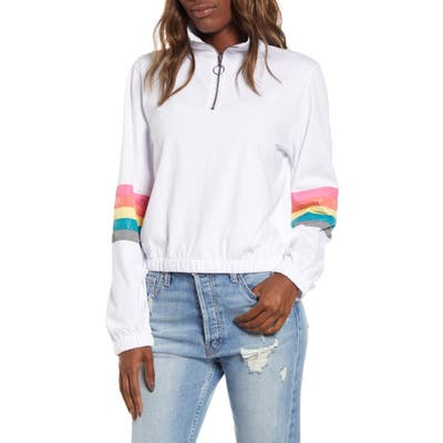 Unionbay Catherine Stripe Sleeve Pullover, White