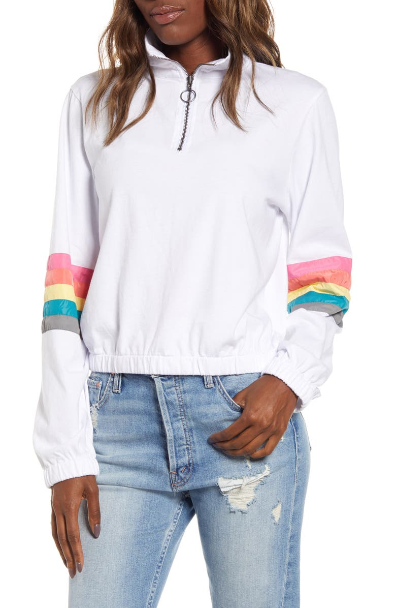 UNIONBAY Catherine Stripe Sleeve Pullover, Main, color, 100