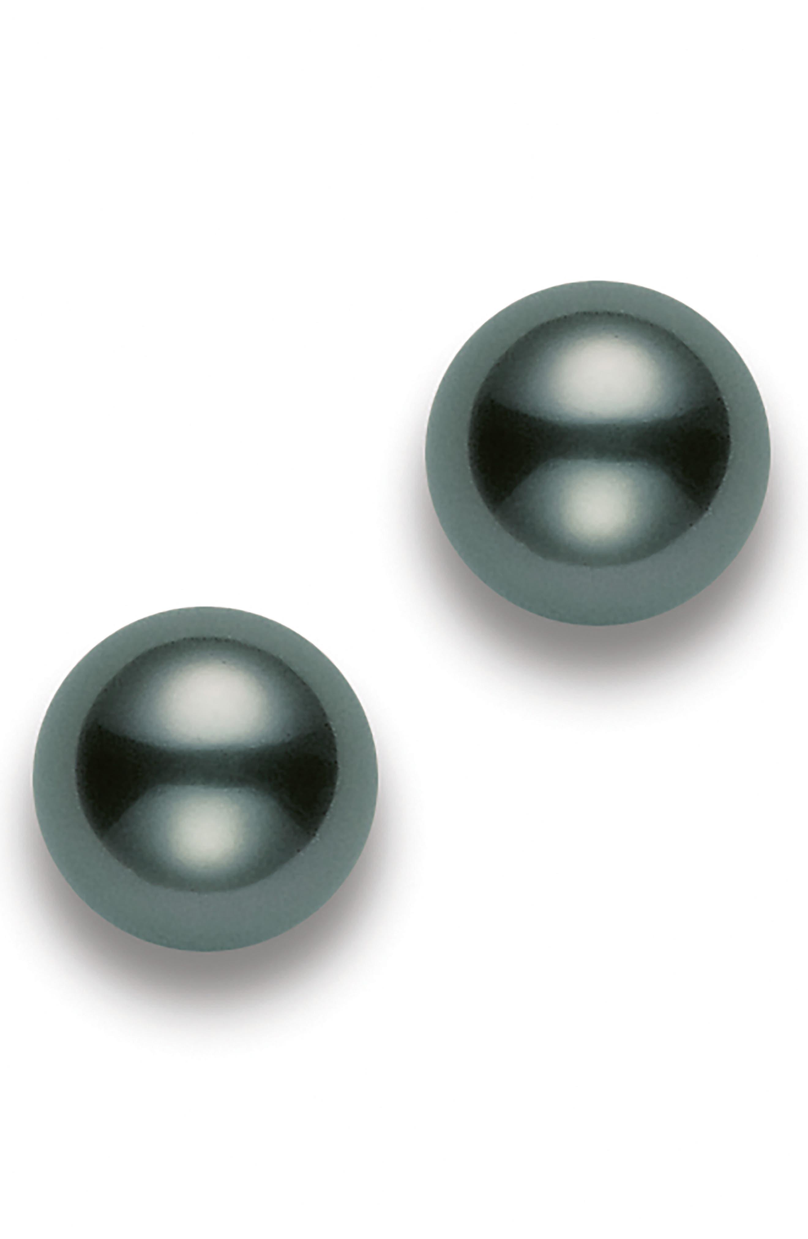 Black South Sea Pearl Stud Earrings