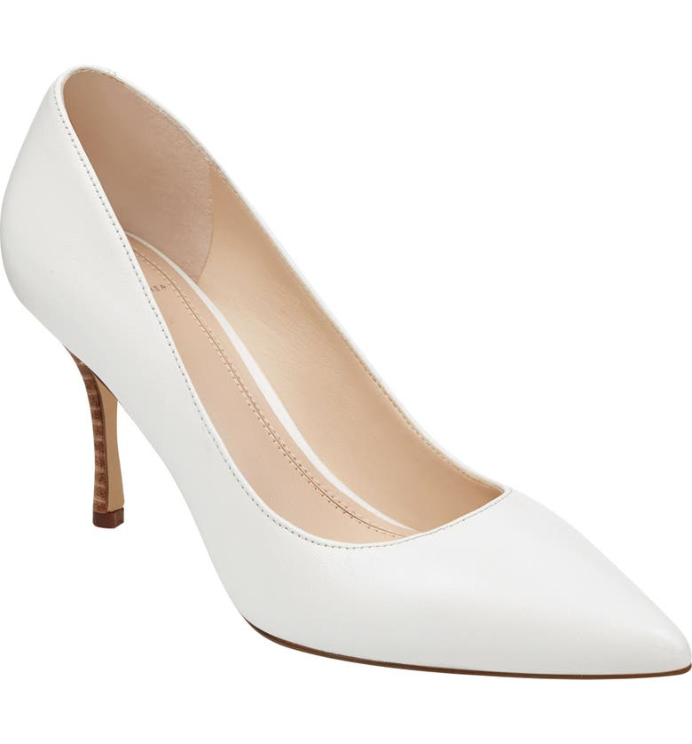 MARC FISHER LTD Carter Pump, Main, color, WHITE LEATHER