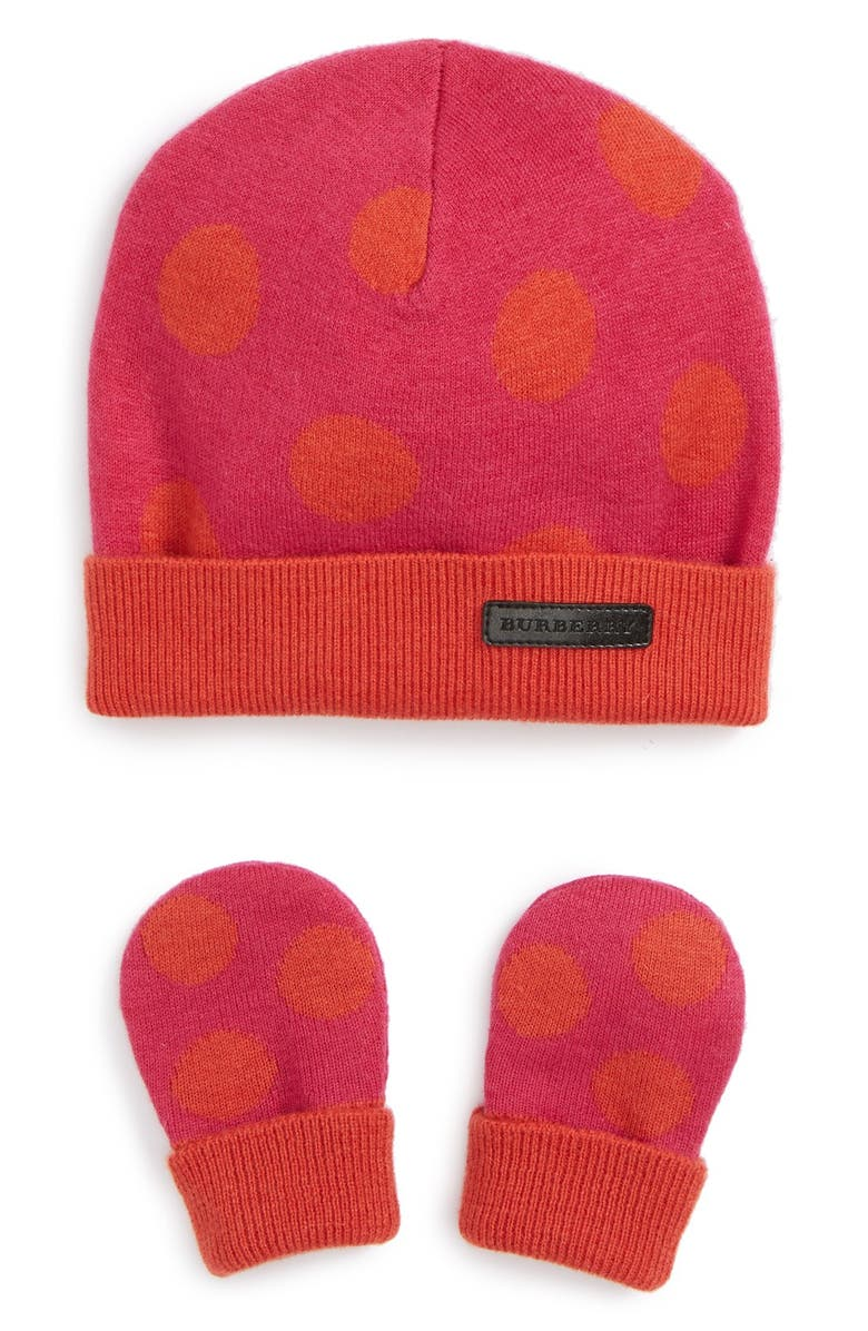 4a4e964c Burberry 'Ramona' Cashmere Hat & Mittens Set (Baby Girls) | Nordstrom