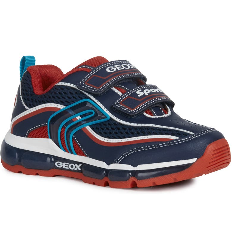 GEOX Android 26 Sneaker, Main, color, NAVY/ RED