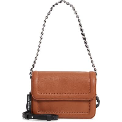 The Marc Jacobs The Mini Cushion Leather Shoulder Bag - Brown