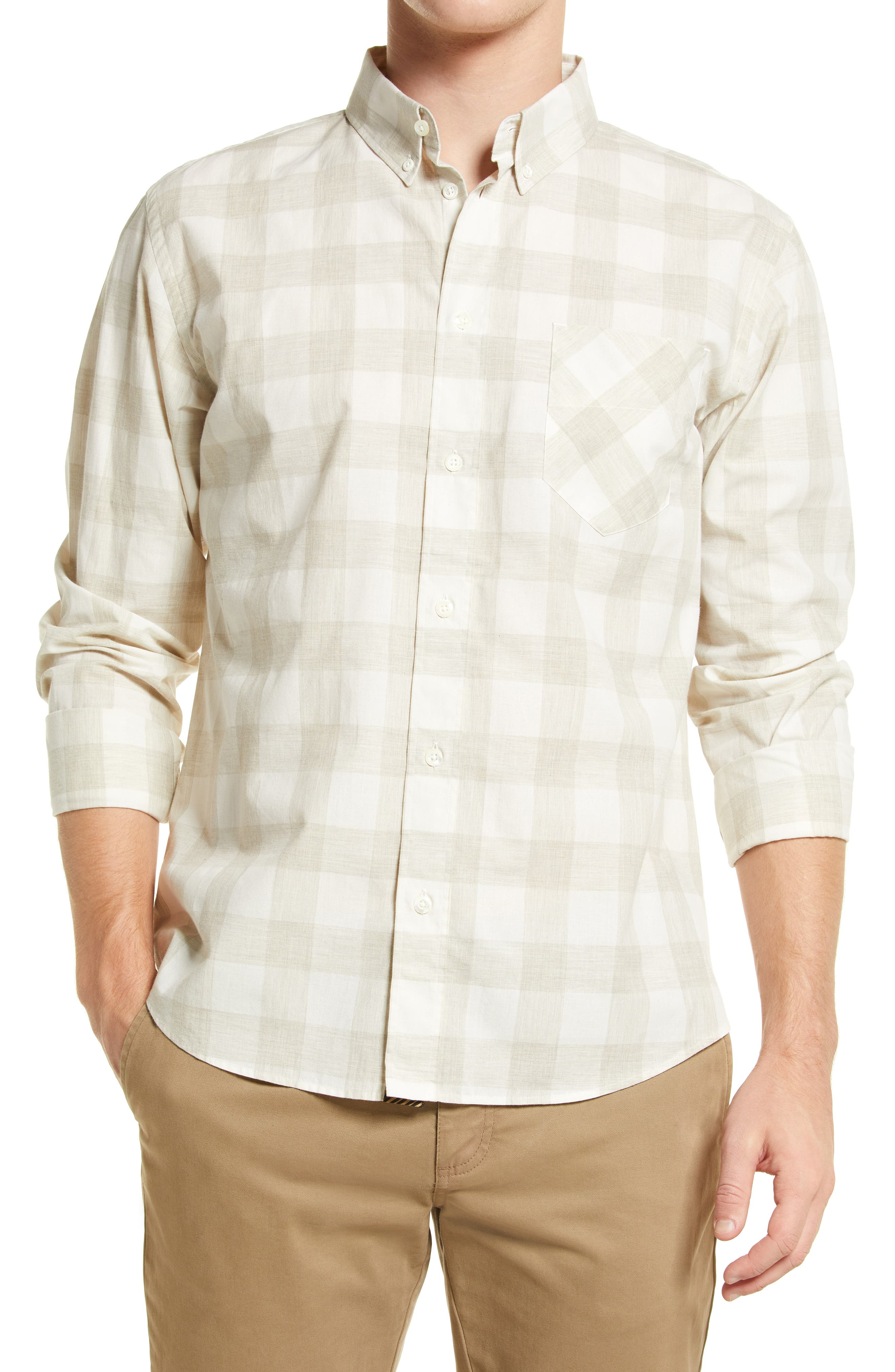 Tuscumbia Standard Fit Check Button-Down Shirt