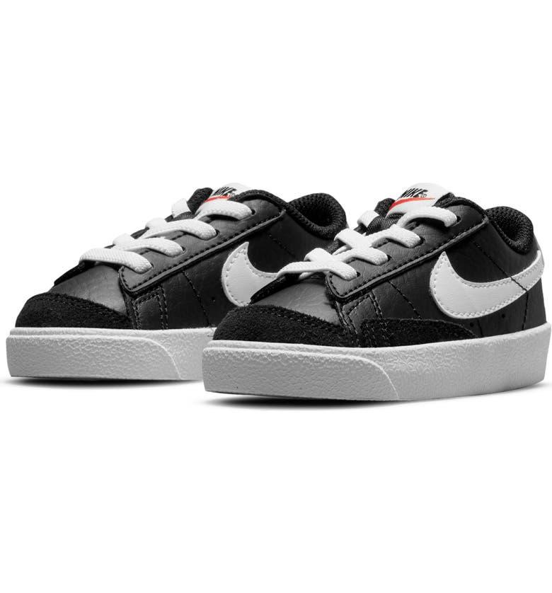 NIKE Kids' Blazer Low '77 Sneaker, Main, color, BLACK/ WHITE/ BLACK