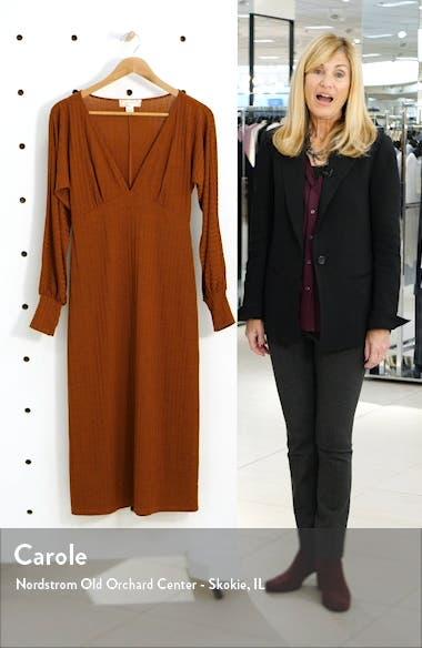 Tarte Long Sleeve Plunge Neck Midi Dress, sales video thumbnail