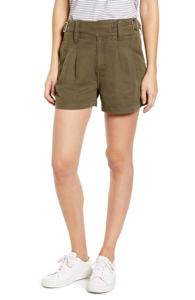 CURRENT/ELLIOTT The Baro High Waist Shorts, Main, color, 300