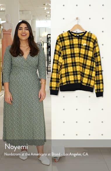 Plaid Fleece Sweatshirt, sales video thumbnail