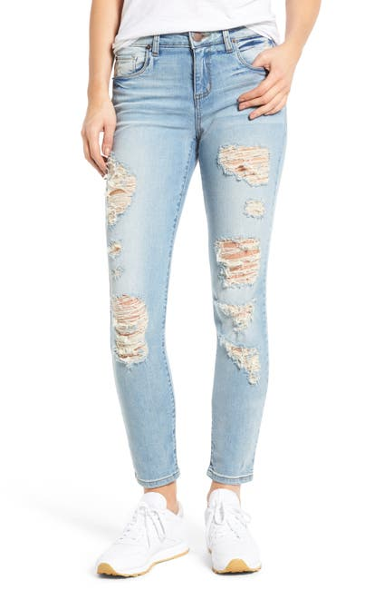 Image of STS BLUE Piper Distressed Skinny Ankle Jeans