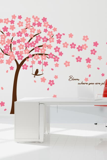 Image of WalPlus Pink Cherry Blossom Decal