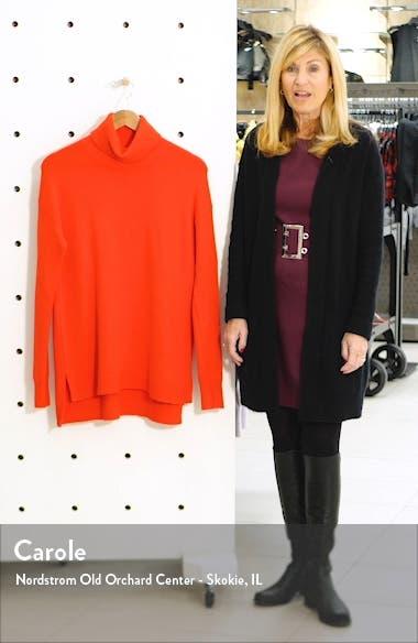 Turtleneck Wool Blend Tunic Sweater, sales video thumbnail