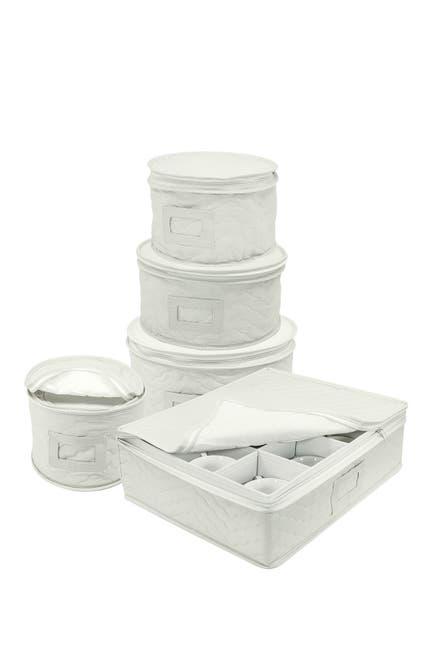 Image of Sorbus Dinnerware Storage 5-Piece Set - Beige