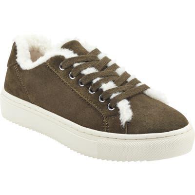 Marc Fisher Ltd Dakari Faux Fur Lined Sneaker- Grey