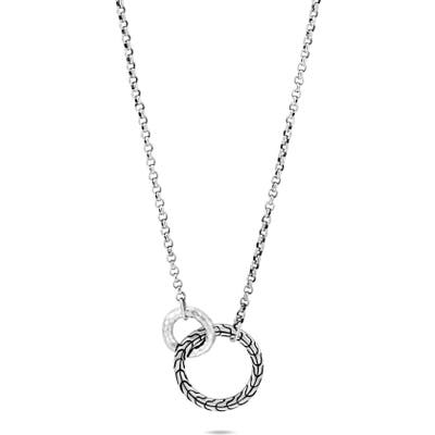 John Hardy Classic Chain Hammered Ring Pendant Necklace