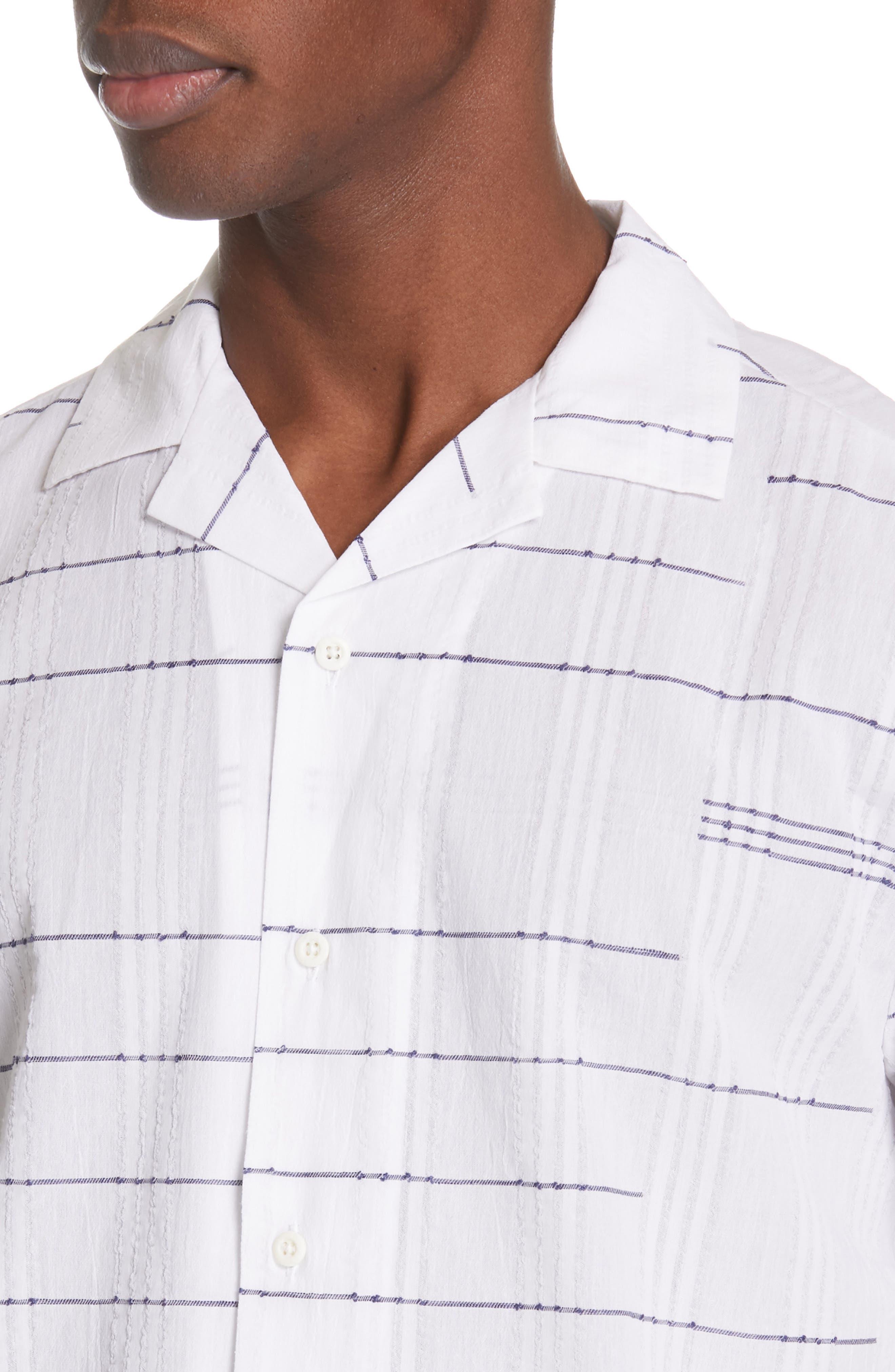 ,                             Embroidered Stripe Woven Shirt,                             Alternate thumbnail 2, color,                             WHITE