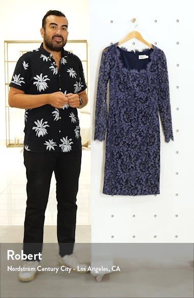 Lace Long Sleeve Sheath Dress, sales video thumbnail