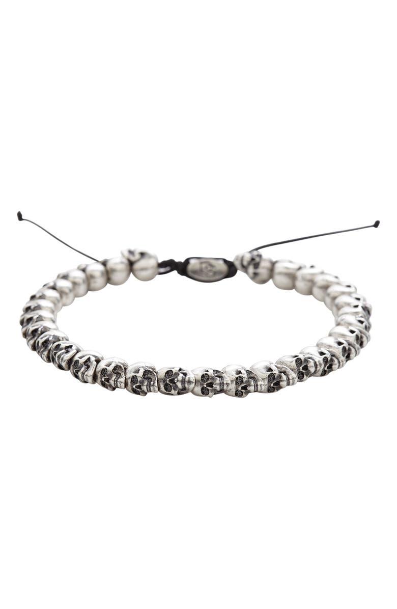 DEGS & SAL Skull Bead Bracelet, Main, color, 040
