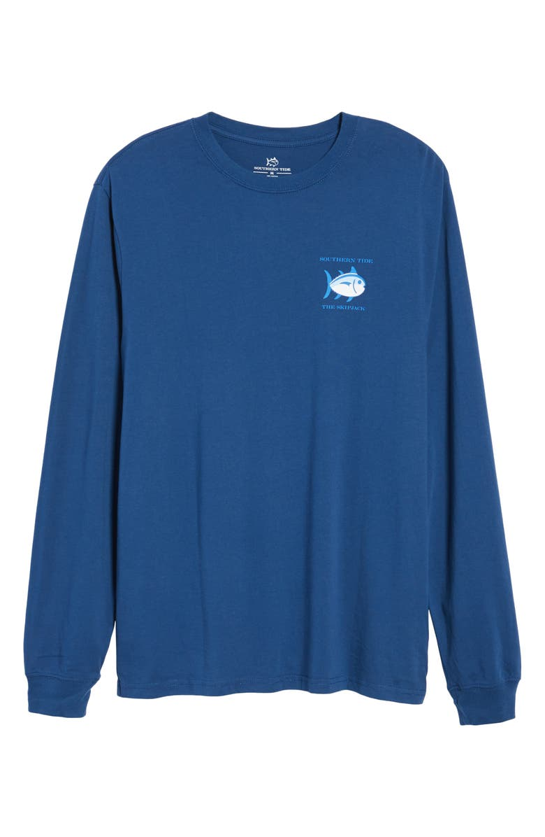 SOUTHERN TIDE 'Skipjack'Long Sleeve Graphic T-Shirt, Main, color, YACHT BLUE