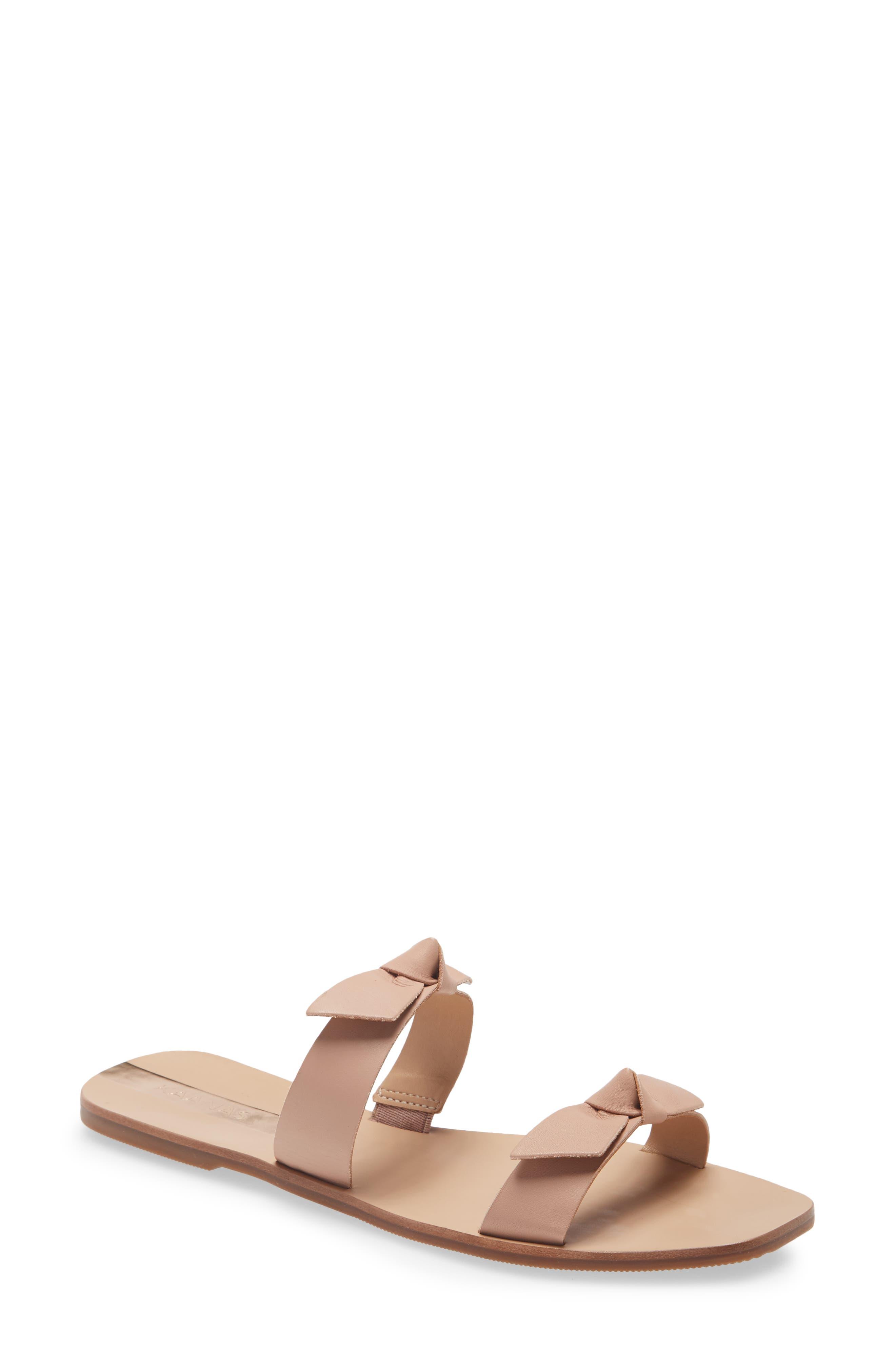 Antonia Double Bow Slide Sandal