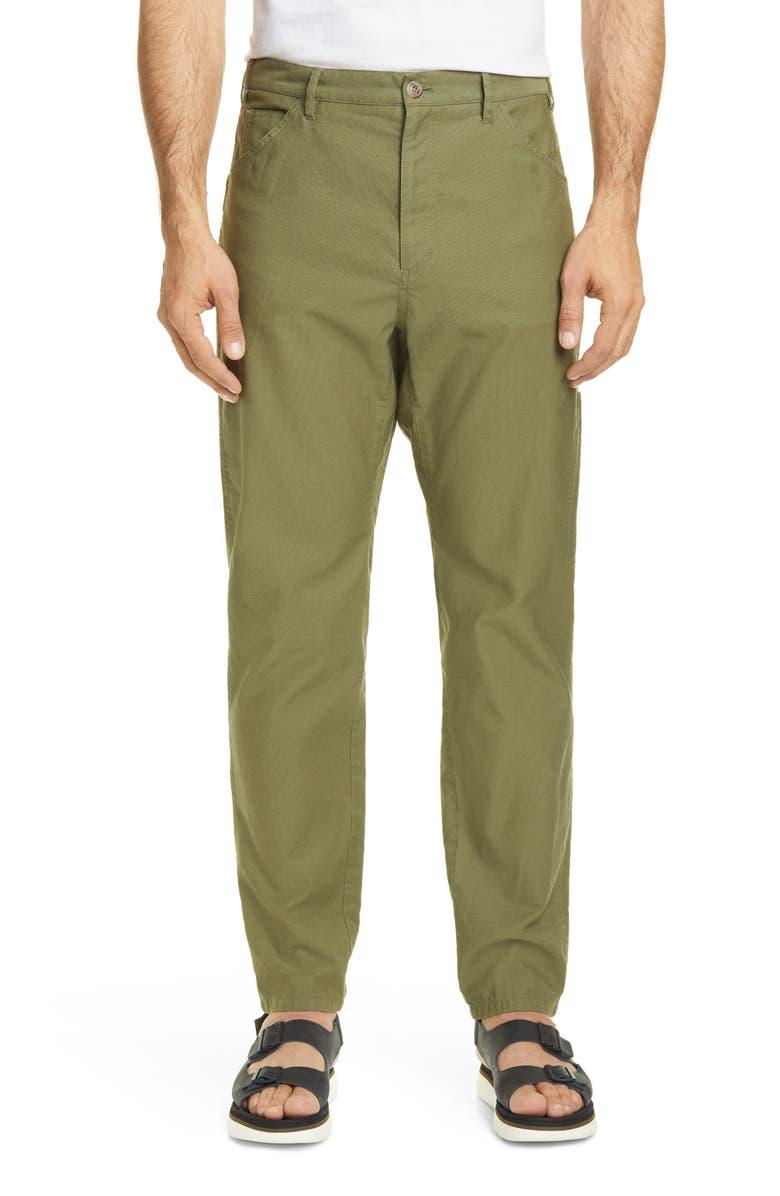 A.P.C. Kingsten Straight Leg Five-Pocket Pants, Main, color, KAKI
