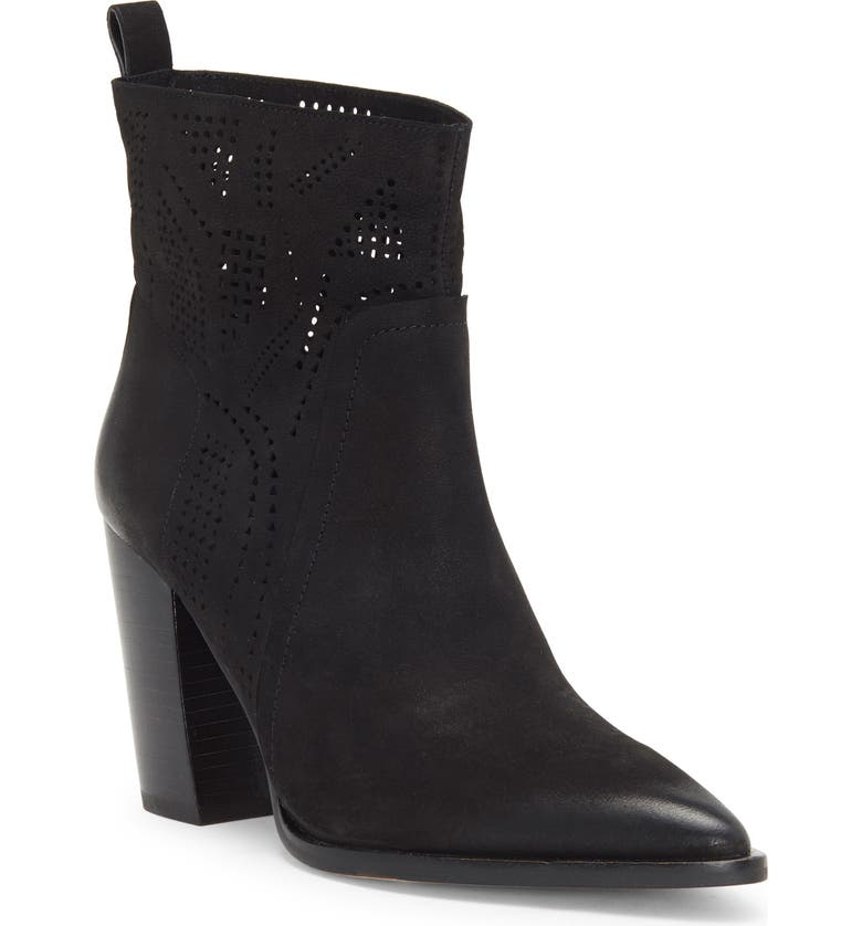 VINCE CAMUTO Catheryna Bootie, Main, color, BLACK LEATHER