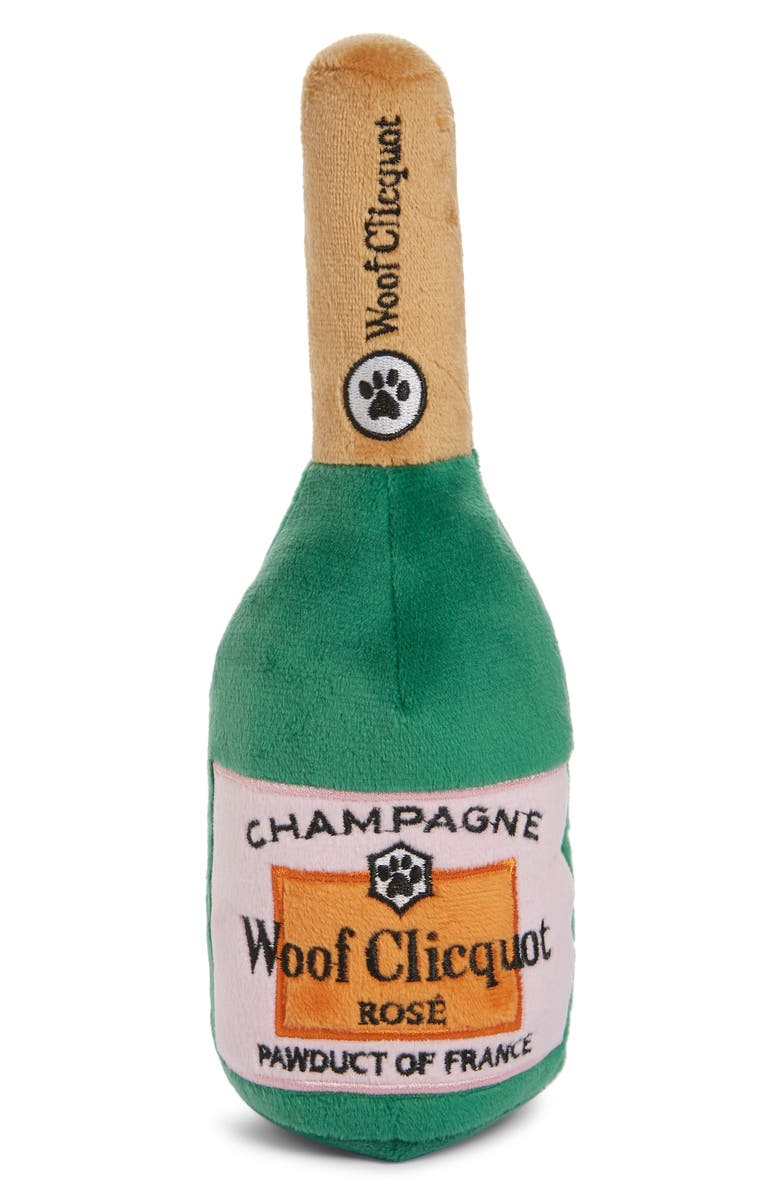 HAUTE DIGGITY DOG Woof Cliquot Rosé Dog Toy, Main, color, GREEN