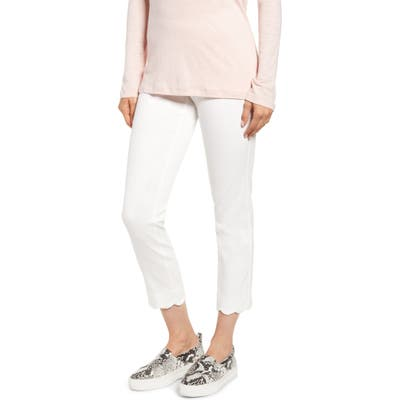 Lysse Tate Scallop Ankle Leggings, Ivory