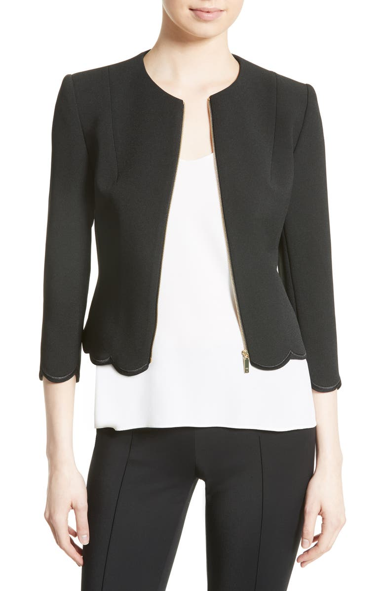 TED BAKER LONDON Heraly Crop Jacket, Main, color, 001