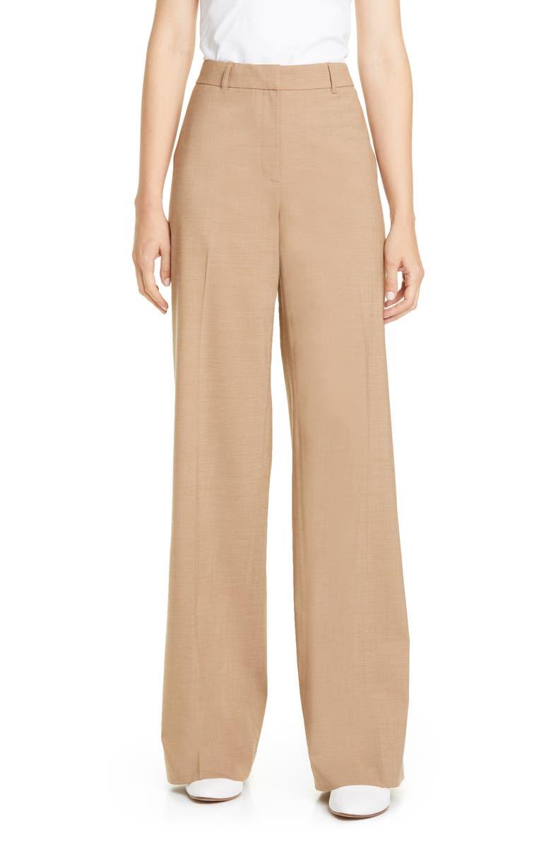 LAFAYETTE 148 NEW YORK Dalton Stretch Wool Wide Leg Pants, Main, color, 250