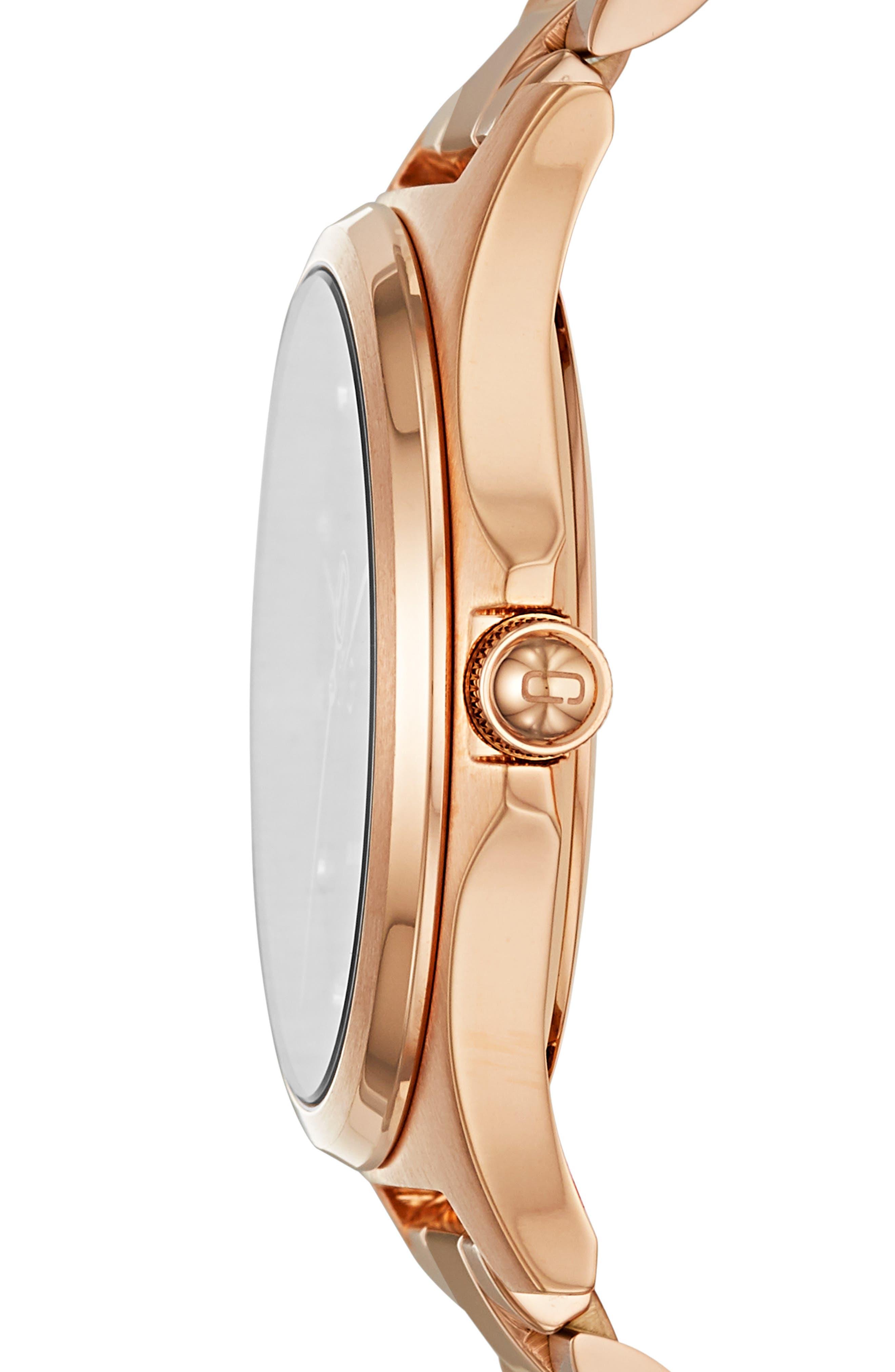 ,                             Henry Bracelet Watch, 36mm,                             Alternate thumbnail 2, color,                             ROSE GOLD/ BLACK/ ROSE GOLD